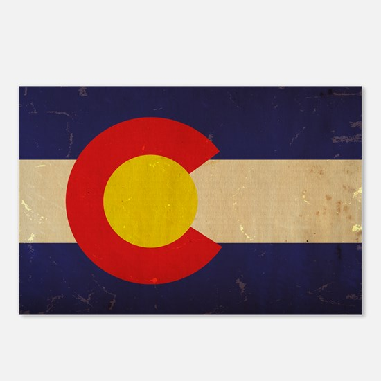 Colorado State Flag VINT Postcards (Package of 8)