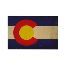 Colorado State Flag VINTAGE Rectangle Magnet