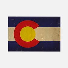 Colorado State Flag VINTAGE Rectangle Magnet