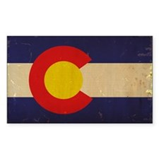 Colorado State Flag VINTAGE Decal