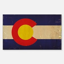 Colorado State Flag VINTAGE Sticker (Rectangle)