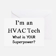 hvac tech Greeting Card
