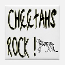 Cheetahs Rock ! Tile Coaster