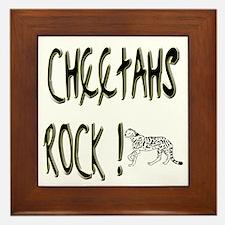 Cheetahs Rock ! Framed Tile