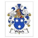 Wasch Family Crest Small Poster