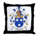 Wasch Family Crest Throw Pillow