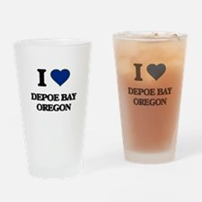 I love Depoe Bay Oregon Drinking Glass