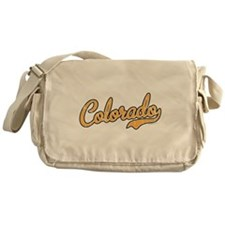 Colorado Script Gold VINTAGE Messenger Bag