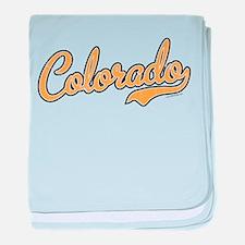 Colorado Script Gold VINTAGE baby blanket