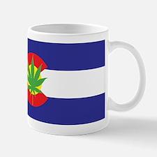Colorado State Flag Pot Leaf Mugs