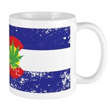 Colorado State Flag Marijuana Pot Weed Leaf Mugs