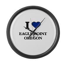 I love Eagle Point Oregon Large Wall Clock