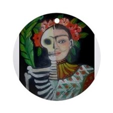 Day of the Dead Frida Ornament (Round)