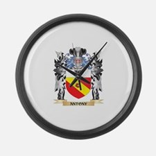 Antony Coat of Arms - Family Cres Large Wall Clock
