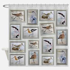 Shorebirds_large Shower Curtain