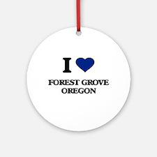 I love Forest Grove Oregon Ornament (Round)