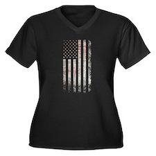 Vintage USA Flag Plus Size T-Shirt