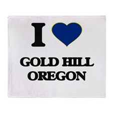 I love Gold Hill Oregon Throw Blanket