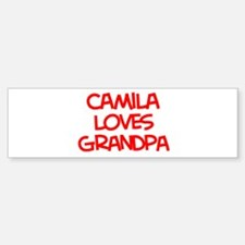 Camila Loves Grandpa Bumper Bumper Bumper Sticker