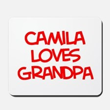 Camila Loves Grandpa Mousepad