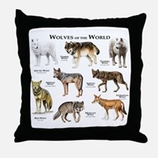 Wolves of the World Throw Pillow