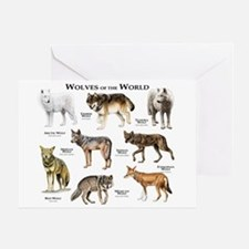 Wolves of the World Greeting Card