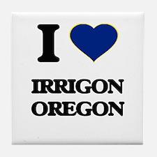 I love Irrigon Oregon Tile Coaster