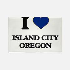 I love Island City Oregon Magnets