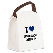 I love Jefferson Oregon Canvas Lunch Bag