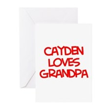 Cayden Loves Grandpa Greeting Cards (Pk of 20)