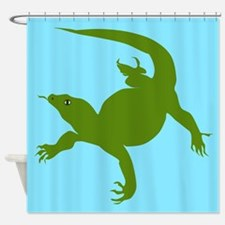 Komodo Lizard Shower Curtain