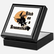 Bitch on a Broomstick Keepsake Box