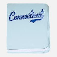 Connecticut Script Font baby blanket