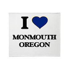 I love Monmouth Oregon Throw Blanket