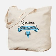 Proud Mom Of Son Tote Bag