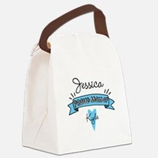 Proud Mom Of Son Canvas Lunch Bag