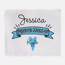Proud Mom Of Son Throw Blanket