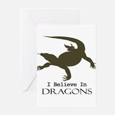 I Believe In Dragons Greeting Cards