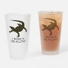 I Believe In Dragons Drinking Glass