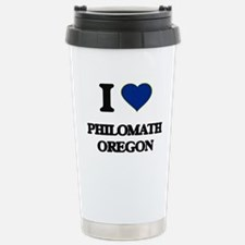 I love Philomath Oregon Travel Mug
