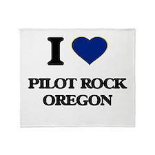 I love Pilot Rock Oregon Throw Blanket