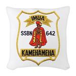 USS KAMEHAMEHA Woven Throw Pillow