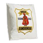 USS KAMEHAMEHA Burlap Throw Pillow