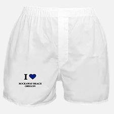I love Rockaway Beach Oregon Boxer Shorts