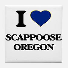 I love Scappoose Oregon Tile Coaster