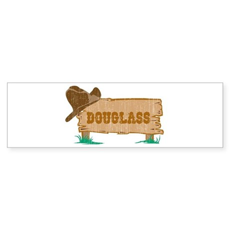 Douglass western Bumper Sticker