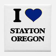 I love Stayton Oregon Tile Coaster