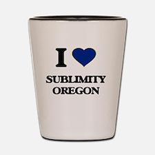 I love Sublimity Oregon Shot Glass