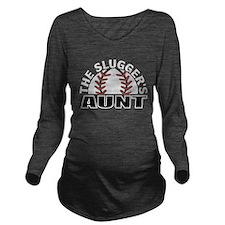 Baseball aunt Long Sleeve Maternity T-Shirt