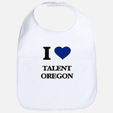 I love Talent Oregon Bib
